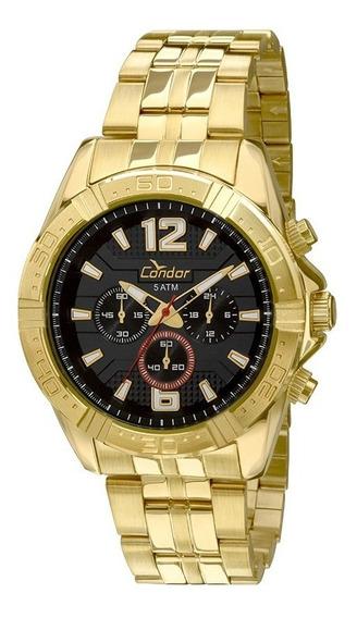 Relógio Masculino Condor Dourado Covd54af/4p Esportivo