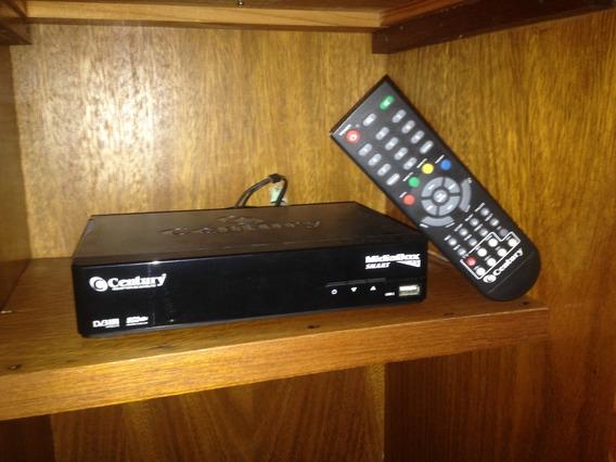 Receptor Century Mídia Box Smart C5 Com Antena Parabólica!