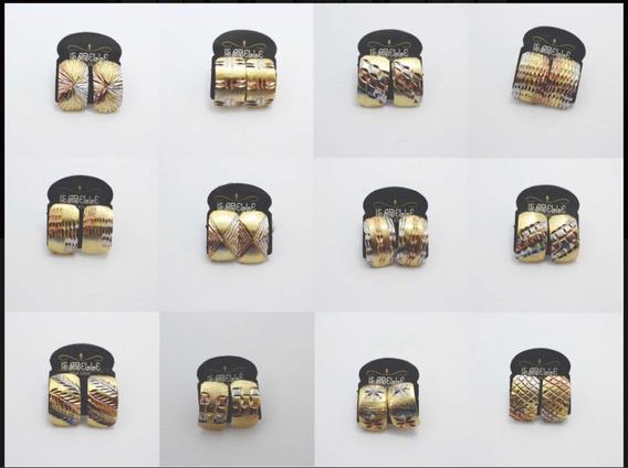 Kit Brincos E Anéis 3 Cores(26 Peças)