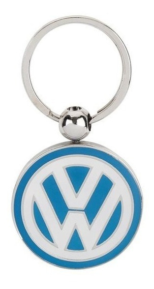 Chaveiro Logo 3d Azul Original Volkswagen Collection