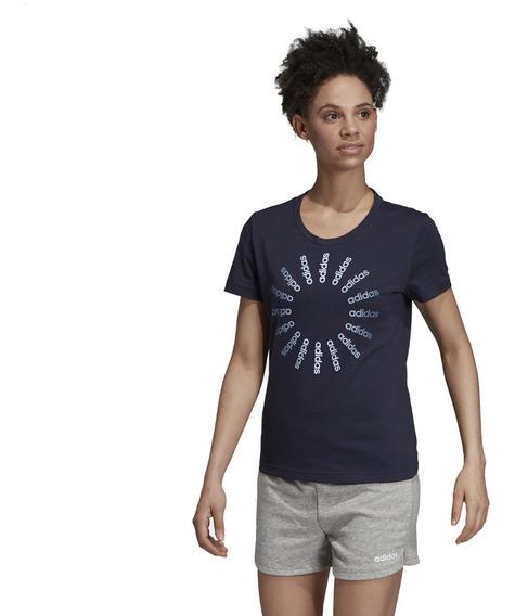 Remera adidas Crcld T 1 Mujer Blu/wh