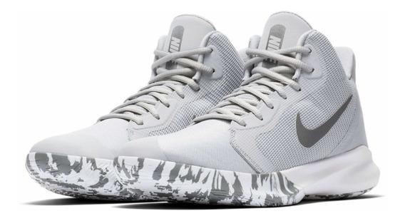 Tenis Nike Basquet Precisión Iii // Gris / #5 Al 9 Mx + Caja