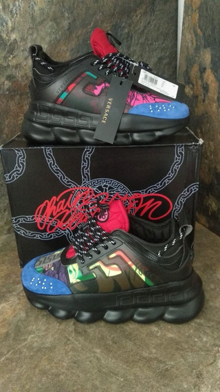 Tenis Versace Chain Reaction Con Caja Y Envio Gratis