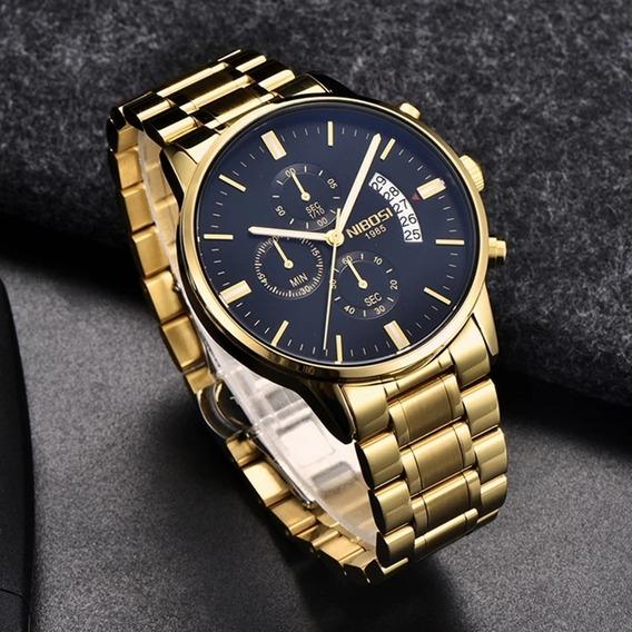 Relógio Nibosi 2309 Social Luxo Com Caixa Original