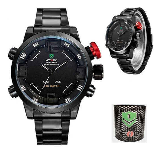 Relógio Masculino Weide Casual Wh-2309b Resistente À Água