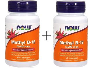 2 X Vitamina B12 Metilcobalamina 5000 Mcg 60 Caps Now 5 Mg