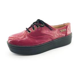 Tênis Quality Shoes Feminino 005 Vermelho Sola Preta
