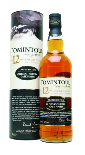 Whisky Tomintoul 12 Años Oloroso Finish 700 Ml