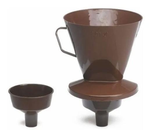 Kit Porta Filtro + Adaptador Garrafa Térmica Quador Café