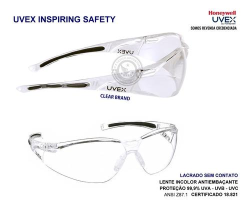 Óculos Epi Proteção A805 Incolor Antiembaçante Uvex Original