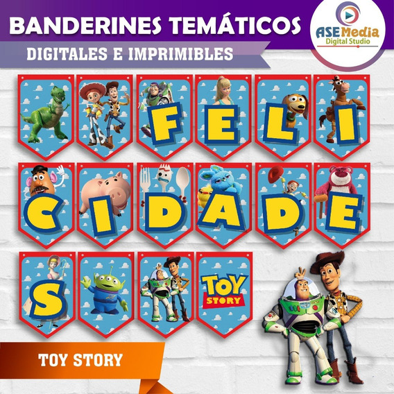 Toy Story - Banderines Temáticos Imprimibles [oferta]