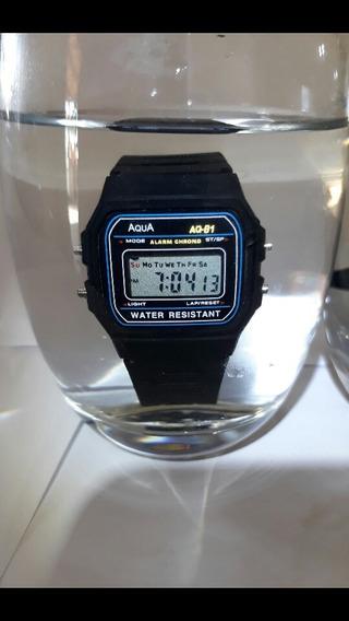 Kit 10 Relógio Aqua Aq-81 Promoção Super Oferta