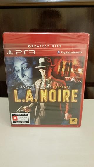 L.a. Noire La Noire Ps3 Playstation 3 Novo Lacrado Física