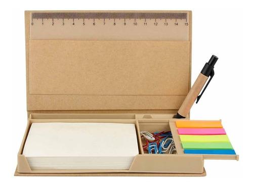Imagen 1 de 3 de Caja Despachadora Porta Notas De Colores Ecológica