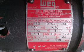 Motor Weg Para Portão De Garagem 1/4 Cv