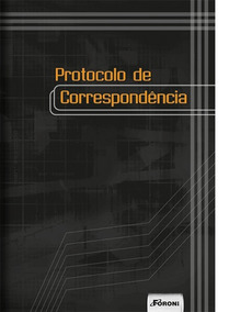 Livro Protocolo De Correspondência Capa Dura Foroni