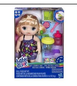 Boneca Baby Alive Original Hasbro Loira Papinha Divertida