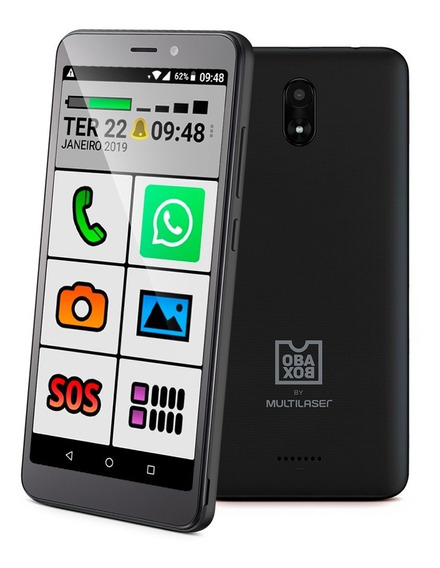 Obasmart 2 Smartphone Para A 3º Idade Original Obabox