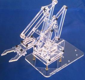 Frete Gratis - Kit Braço Robótico Acrílico Arduino Robótica