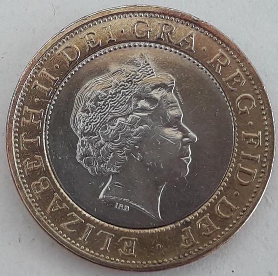 Inglaterra Moneda 2 Pounds Del Año 1998 - Muy Buena++