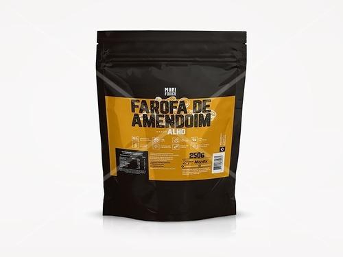 Imagem 1 de 3 de Farofa Fit De Amendoim Sabor Alho - 250g