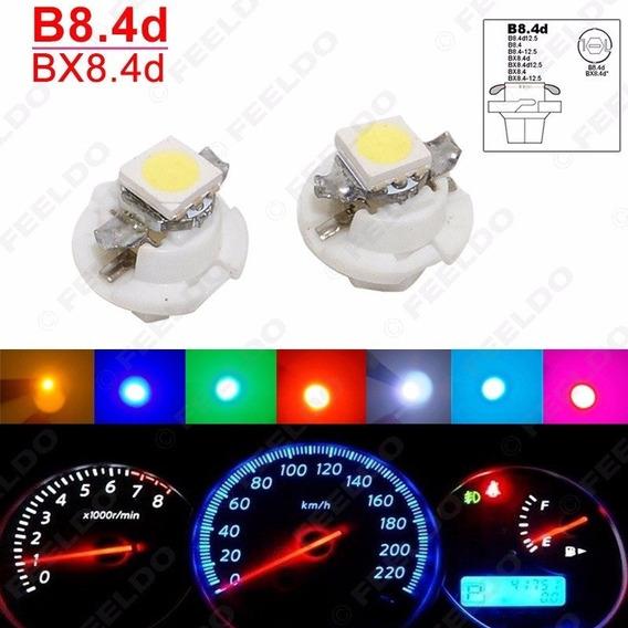 8 Focos Led 8.4d B8.4 Smd 5050 Luces Nuevas Para Tablero Clúster E Instrumentos Automovil 150 Lums Brillo Ajustable