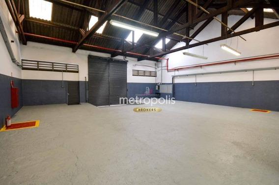 Galpão Para Alugar, 325 M² Por R$ 5.500,00/mês - Fundação - São Caetano Do Sul/sp - Ga0116