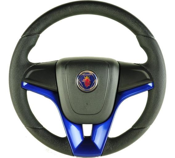 Volante Esportivo Cruze Azul + Cubo Caminhão Scania 112 113