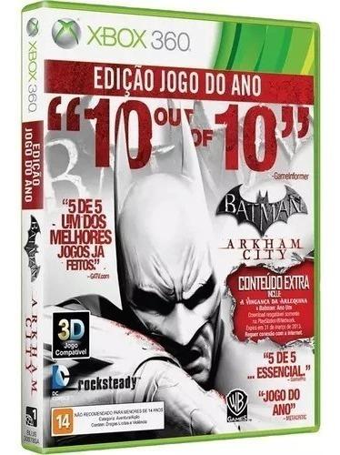 Jogo Batman Arkhan City Xbox 360 Física Novo Frete Grátis