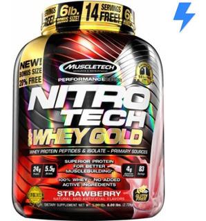 Nitro Tech Gold 2.5kg - Muscletech - 4g Glutamina P/ Dose!