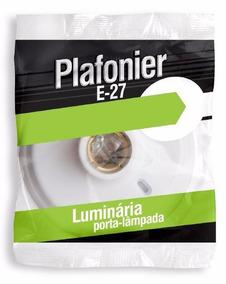 30 Plafoiners Branco - Socket Lampada E 27
