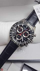 Relógio Tissot Prs516 T044417 Couro Preto Completo Na Caixa
