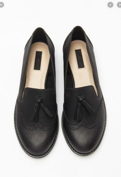 Zapatos De Vestir Tipo Boston Forever 21 Con Borlas