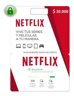 Tarjetas De Regalo De Netflix - Saldo $30.000
