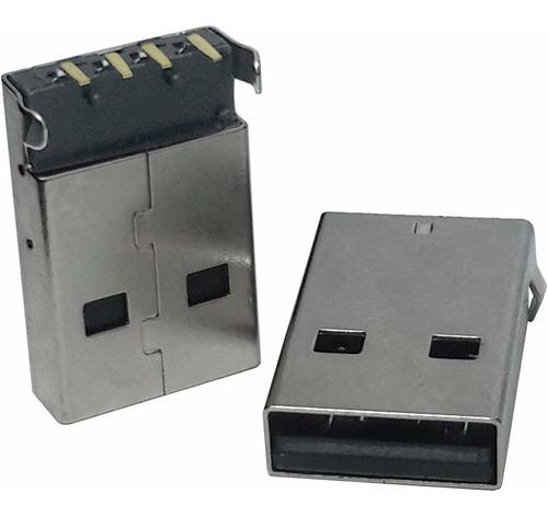 Imagem 1 de 2 de 5 Unidades Conector Usb A Macho Fixador Yh-usb05a - 90º