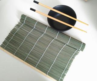 Esterilla Plana De Bambú Para Sushi 27x27