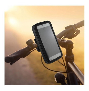 Suporte Guidão Bike Moto P/ Celular Gps Tamanho 12,5 X 6 Cm