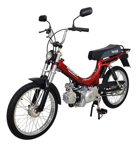 Bicicleta Motorizada Moby 4 Tempos Bikelete Vermelho