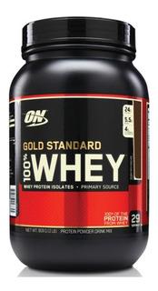Whey Optimum Gold 900g Sabor Chocolate Ao Leite