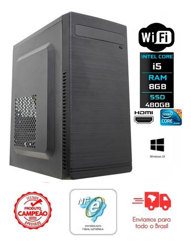 Imagem 1 de 6 de Computador Intel Core I5 3470 8gb Ddr3 Ssd 480gb Gab + Fonte
