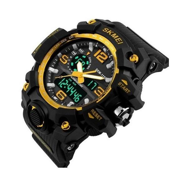 Relógio Skmei Original Model 1155 Preto/dourado Prova D