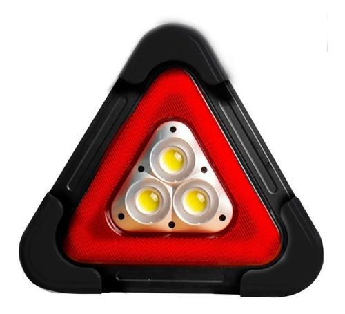 Imagen 1 de 3 de Triángulo Luz Led Kit Emergencia Carro Recargable Y Pila X 2