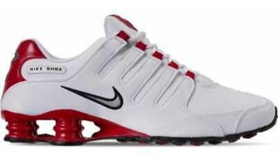 Tênis Nike Shox Nz Branco/vermelho Original Tam.46