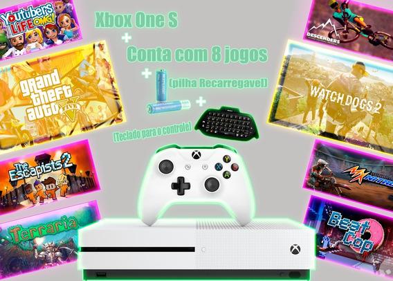 Xbox One S (1tb) C/1 Controle Novo Lacrado Na Caixa +3 Bônus