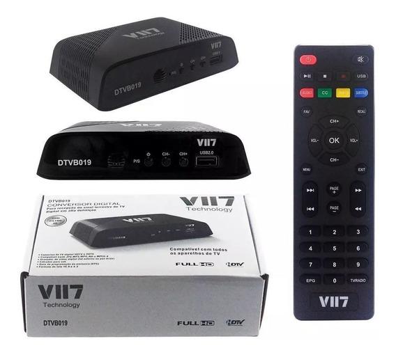 Conversor Tv Digital Vii7 Dtvb019 C/ Cabo Hdmi