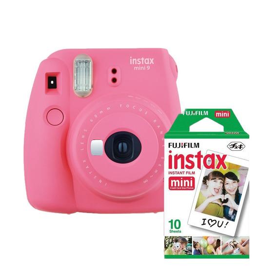 Máquina Fotográfica Instax Instantânea Mini 9 Filme 10 Poses