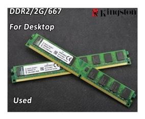 Memórias Kingston 2gb Ddr2 Pc2-5300 667 2pentes 4gb Seminovo