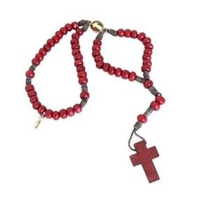 Pulseira Madeira Medalha Nossa Senhora Aparecida