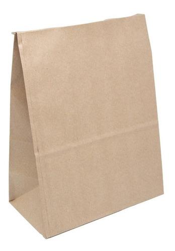 Saco Papel Kraft  Para Delivery 22x30x12 200 Un Promoção