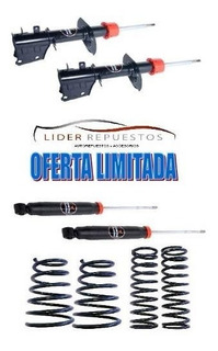 Amortiguadores Mas Espirales X4 Fiat Palio / Siena Fire